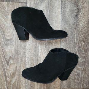 Size 7.5 black Dolce Vita slip on mule booties